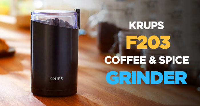 Krups F203 Electric Spice and Coffee Grinder Review: Best Blade Grinder